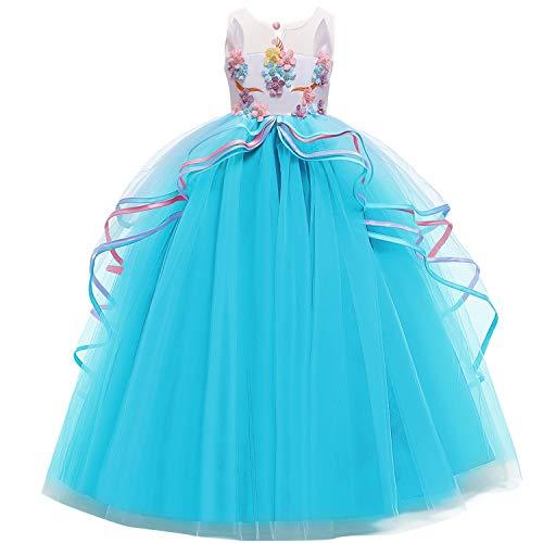 NNJXD Disfraz de Fiesta de Unicornio para Niñas Cosplay Dis