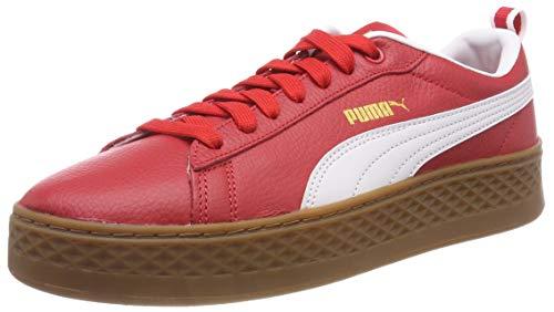Puma Damen Smash Platform VT Sneaker, Rot (Ribbon Red White 02), 40 EU