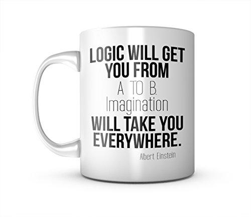 Imagination Will Take You Everywhere Albert Einstein Zitat Keramik Tasse Kaffee Tee Becher Mug