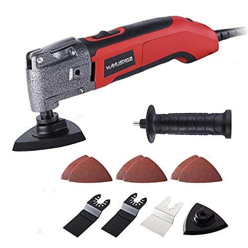 MANUSAGE 2.5Amp Oscillating Tool,Variable Speed Oscillating Multi Tool Kit with 3.5°Oscillation Angle,Quick...