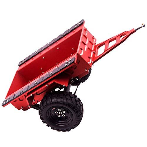 DAUERHAFT RC Trail Car RC Trailer a Prueba de abrasión con Dos neumáticos de Goma para Axial SCX10 1/10 RC Car(Red)