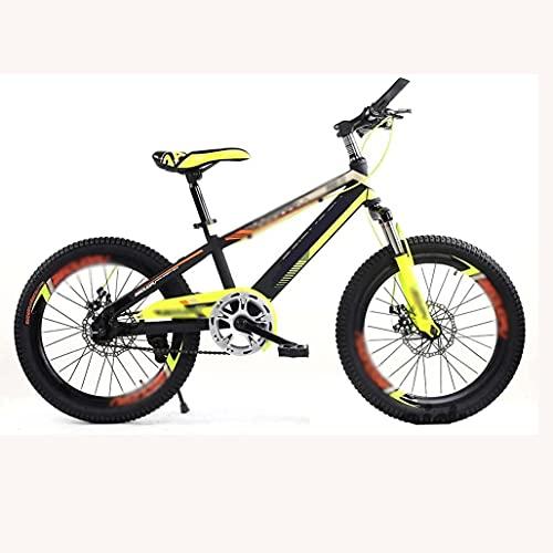Bicicleta para niños para jóvenes Bicicleta de montaña 16/18/20 pulgadas Freno de disco Absorción de golpes Bicicleta para niños de una sola velocidad Llanta de aleación de aluminio Llantas anchas, 18