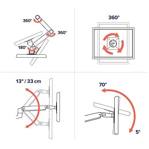 エルゴトロンLXデスクマウントモニターアームマットブラック34インチ(3.2~11.3kg)まで対応45-241-224