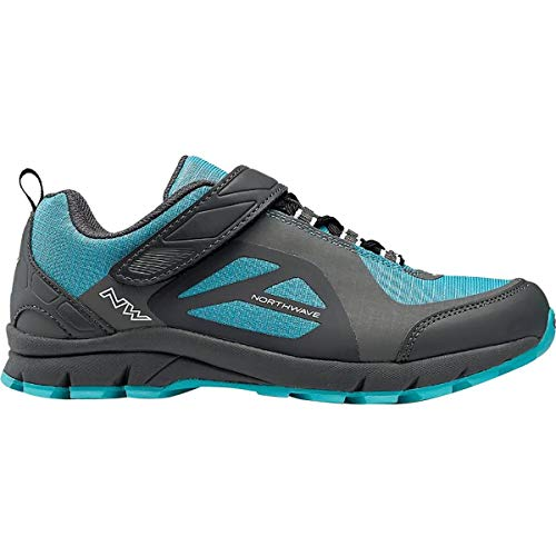 Northwave Escape Evo Cycling Shoe - Women's Anthracite/Blue, 40