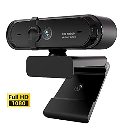 1080P Webcam, HDWeb Webcam with Microphone & Privacy Cover, USB Web Cam with Wide Angle Lens & Large Sensor for PC Mac