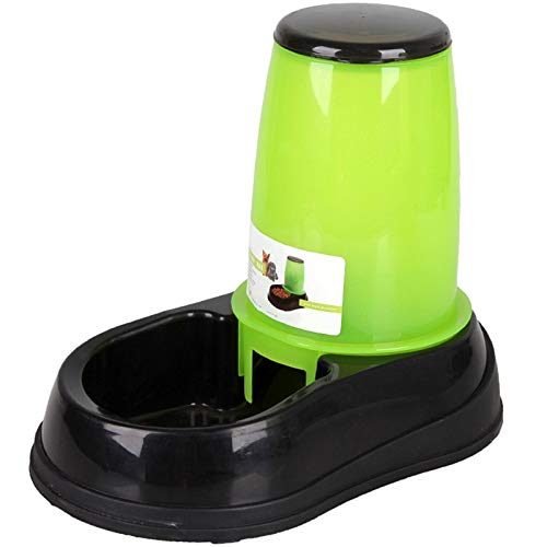 N/b Best 2.5L Large Automatic Pet Feeder Drinking Fountain for Cats Dogs Environmental Plastic Dog Food Bowl Pets Water Dispenser (Color : Green)