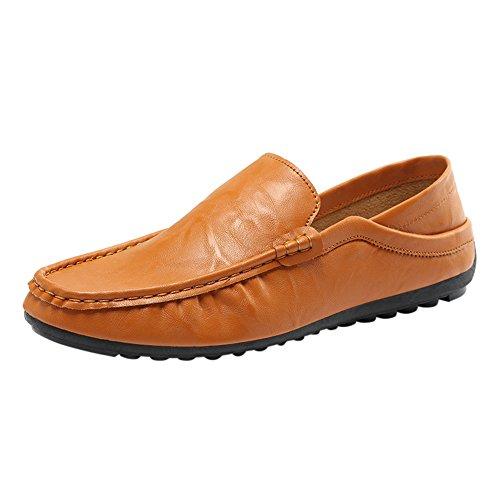 Celucke Driver Mokassins Herren, Klassische Driving Schuhe Flache Fahren Halbschuhe Slippers Weichs Comfort Freizeit Loafers