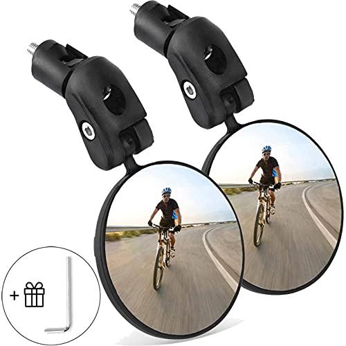 Goldmiky Espejo de bicicleta, 360° Adjustable Espejo Retrovisor de bicicleta para Manillar,...