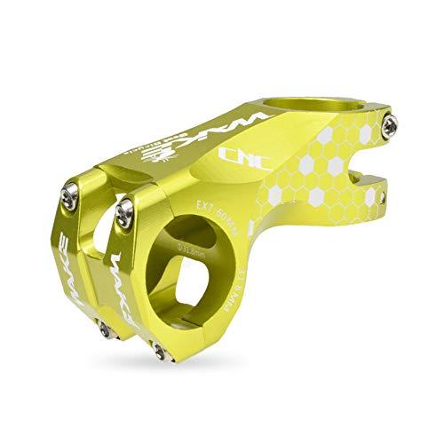 Wake Tige de guidon courte en alliage d'aluminium CNC pour vélo de montagne 60 mm - Pour la plupart des vélos BMX VTT (vert)