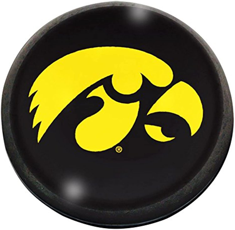 NCAA Iowa Hawkeyes Half Moon Crystal Magnet, 2
