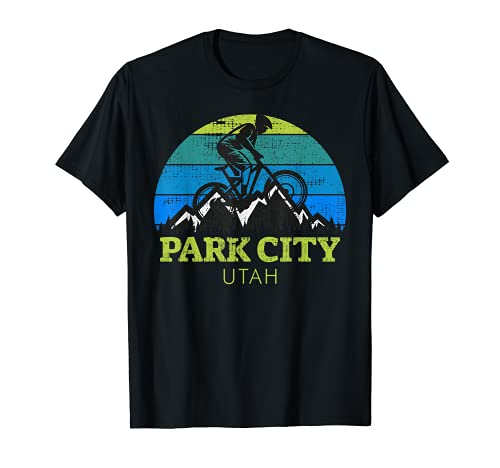 Recuerdo vintage de MTB en bicicleta de montaña de Utah de Park City Camiseta