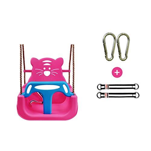 Columpios Asiento de columpio bebé bipartito, Columpio for niños con dispositivo de seguridad, cinturón de seguridad, Childs ajustable de la cuerda al aire libre Jardín asiento del columpio con T bar