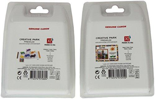 Canon PG-540XL+CL-541XL Cartucho de tinta original Negro XL y Tricolor XL para Impresora de Inyeccion de tinta Pixma