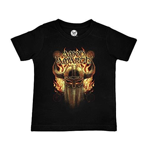 Metal Kids Amon Amarth (Helmet) - Kinder T-Shirt, schwarz, Größe 104 (4-5 Jahre), offizielles Band-Merch