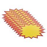 TOYANDONA 200Pcs 11X6cm Vente Au Détail Signes Signes Ventes Prix Étiquette Tags Néon Papier Signes pour L' immobilier Et Les Ventes de Garage Magasins De Collecte de Fonds
