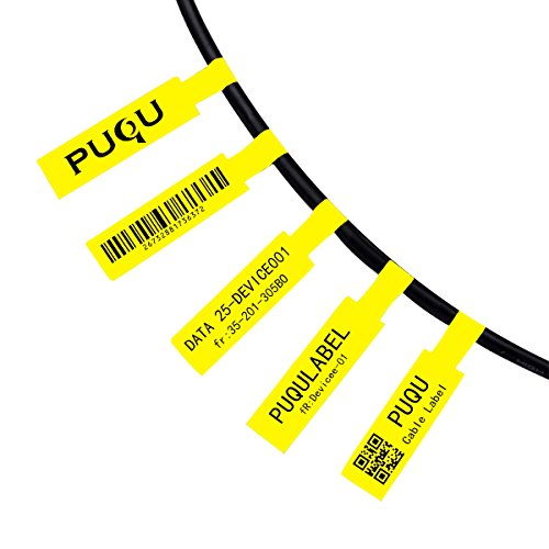 Etiquetadora. Cable Label Rolls(25x78mm)Yellow