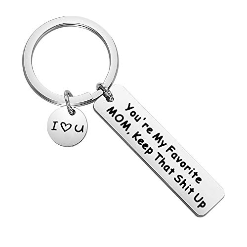 FOTAP You're My Favorite Mom Keychain Mothers Day Gift Mother Gifts from son daughter New Mom Gift (Favorite Mom Keychain)