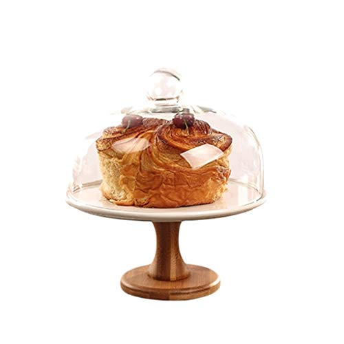 C-J-Xin Chip & Dip Service, portiehouder, slaschijf, koffie, desserts, fruit, vershoudbakje, glazen koepel, stofdicht, beschermdeksel voor taarten