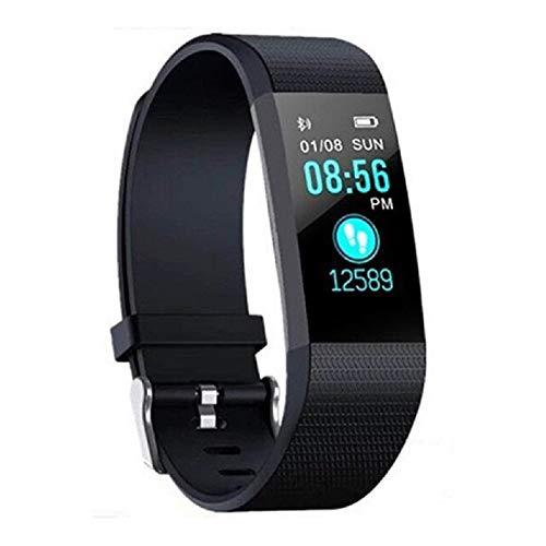 XUEMEI Smart Watch Sports Fitness Watch Monitor De Ritmo Cardíaco Monitor Control De Música Pulsera Inteligente (para iOS Android) (Color : Black)