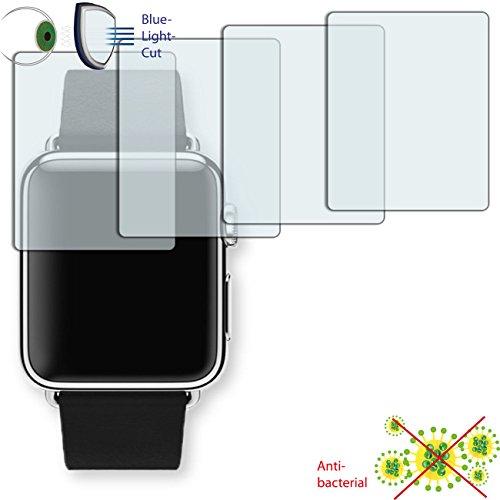 Disagu 4 x ClearScreen Displayschutzfolie für Apple Watch 38 mm (2016) Anti-bakteriell, BlueLightCut Filter Schutzfolie (bewusst Kleiner als das Display, da Dieses gewölbt ist)