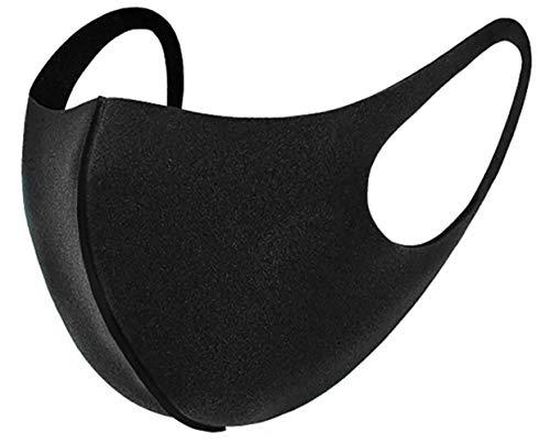 5 x Mundmasken für Freizeit Sport Training Mundschutz Staub Pollen Gesichtsmaske Fashion Maske Gesichtsschutz Face Masks Sportmaske waschbar Y schwarz