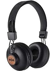 Marley EM-JH133-SB Positive Vibrations 2 Trådlös Bluetooth Over Ear Hörlurar, L, Svart