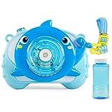 PQZATX Blau-Kinder Sound und Licht Elektrische Delphin-Blasenmaschine Automatische EIN-Knopf-Blasenblasen Ohne Batterie