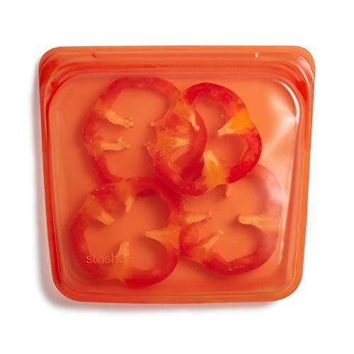 Stasher Platinum Silicone Food Grade Reusable Storage Bag,Citrus (Sandwich) | Reduce Single-Use Plastic | Cook, Store, Sous Vide, or Freeze | Leakproof, Dishwasher-Safe, Eco-friendly |28 Oz
