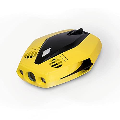 JINFENFG Robot intelligente impermeabile con telecamera telecomando Sottomarino 1080P Telecamera HD Barca elettrica RC Drone portatile subacqueo su e giù può essere regolato a 45 gradi Profondità di i
