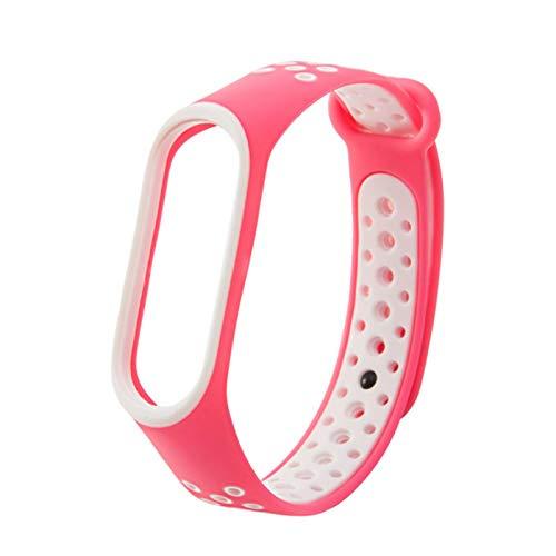 Para Mi Band 3 4 5 6 correa deporte de silicona reloj pulsera pulseraaccesorios pulsera inteligente para mi band 4 correa