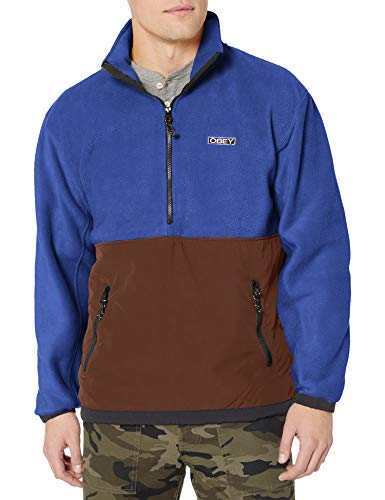 Obey Men's Gallagher Jacket, Blue Multi, X-Large