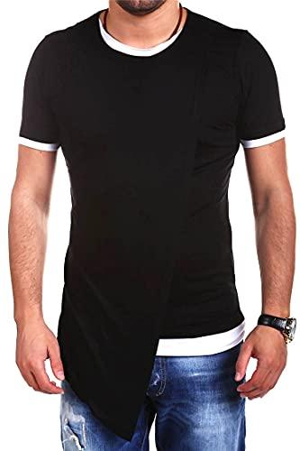 Shirt Hombre Moderna Urbana Personalidad Moda Dos En Uno Diseño Hombre Casuales Camisa Verano Básico Cuello...