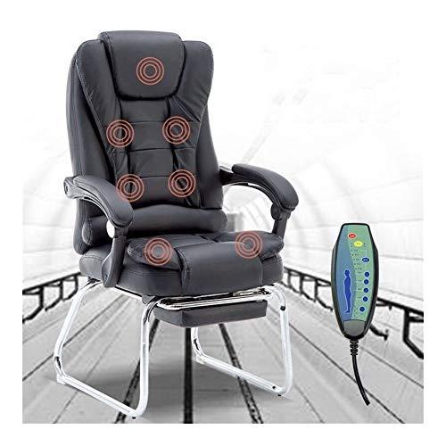 JCXOZ Gaming Chair Büro Massage Lehnstuhl stilvoller justierbarer Sitzkopfstütze Ergonomische mit Fußrasten Lehner mit Lendenwirbelstütze Höhe Bürostühle