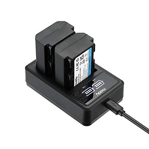 Miady Batteria NP-FZ100 (2280 mAh) e caricatore doppio LCD per Sony Alpha A7III, A7RIII, A9, A9R, A9S, ecc.