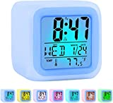 ZALIK Alarm Clock Kids Wake Up Easy Setting Digital Travel for Boys Girls, Large Display Time/Date/Alarm with...