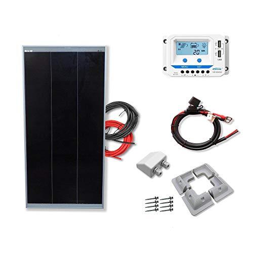 Kit 100W CAMPER 12V panel solar placa monocristalina Tecnología Shingled cells de alta eficiencia para caravanas autocaravanas