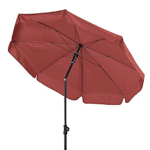 Doppler - Hochwertiger Sonnenschirm für den Balkon - Knickbar - Wetterfest - UV-Schutz 50+ - Terra Cotta - 150 cm