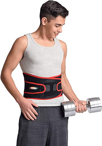 MAXAR Airprene Sports Back Brace W/ Powerful 18 Magnets, Warm & Breathable, Six Spring Metal Stays, Prevent Back Injuries, Support Belt for Lumbosacral, Heavy Lifting & Lower Back Pain, BMS-512 M
