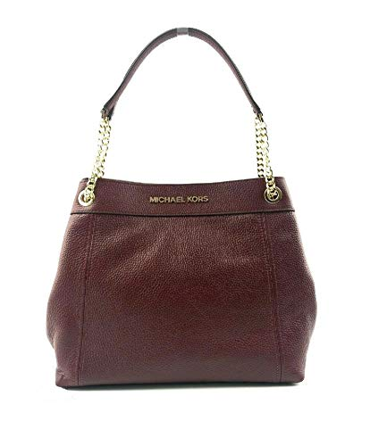 """Saffiano Leather Trim or Pebbled Leather Color Merlot Center Zip Compartment, Interior Zip and 2 Slip Pockets Magnetic Snap Closure approx measurements 12"""" H x 6"""" D x 14 long across the bottom"""""""