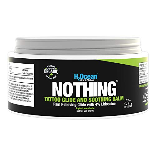 H2Ocean Nothing Tattoo Glide and Soothing with lidocaine, 7oz (200g)