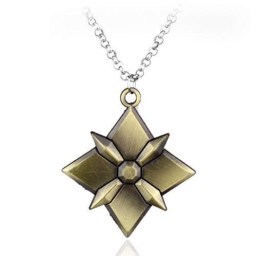 Spiel Overwatch Halskette Overwatch Halsketten Anhänger Bronze Silber Legierung Zubehör Schlüsselhalter Pullover Kette Spiel Schmuck