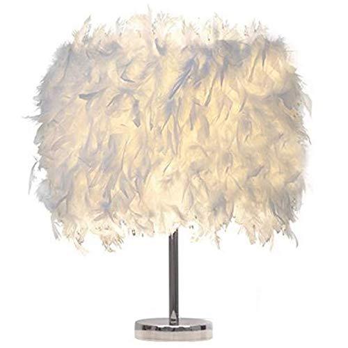 lámpara de escritorio Sombra De Plumas Lámpara De Mesa De Metal Mesita De Noche Luz De Noche Vintage Decoración Navideña Vintage Suave