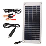 Decdeal 8.5W/12V Solar Car Battery Charger Maintainer with Cigarette Lighter Semi-Flexible Portable Solar