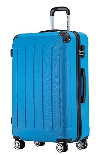 BEIBYE Hartschalen-Koffer Trolley Rollkoffer Reisekoffer Handgepäck 4 Rollen (M-L-XL-Set) (Turquoise, XL)