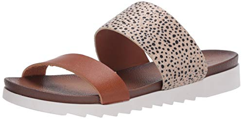 Dirty Laundry by Chinese Laundry Women's Flat Slide Sandal, Tan, 8.5
