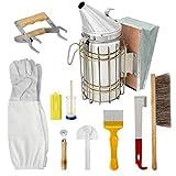 Hiinice Apicultura Fuentes Herramientas Kit de Accesorios Conjunto de la Colmena de Starter Kit Apicultor con la Colmena Fumador 10PCS