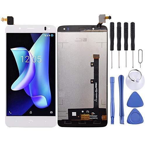 Reparación de Repuesto Pantalla LCD y ensamblaje Completo del digitalizador for BQ Aquaris U2 U2 Lite Reparación de Repuesto (Color : Blanco)