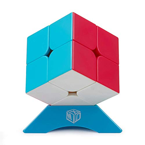 XMD Magic Cube 2x2x2, Qiyi Qidi Speed Cube Stickerless Magic Cube Puzzles for Kids