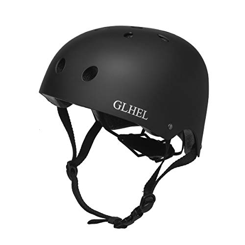 Best Buy! GLHEL Skateboard Helmet Impact Resistance Safe Helmet Multi Sport for Bike, Skates, Skateb...