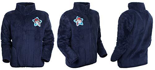 Brandsseller Chaqueta de forro polar para niños, cuello alto, chaqueta con motivos en el estilo de La Patrulla Canina. azul 98 cm-104 cm